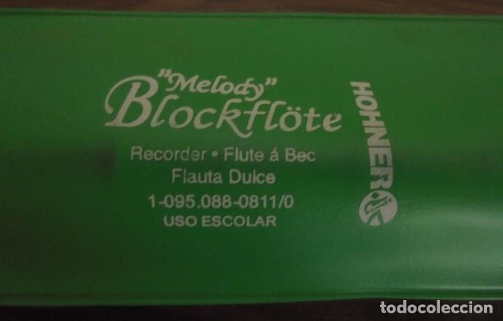 Instrumentos musicales: FLAUTA DULCE ESCOLAR HOHNER MELODY BLOCKFLOTE, CON FUNDA Y ACCESORIO LIMPIADOR - Foto 3 - 177755394