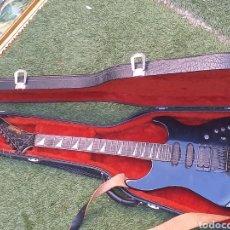 Instrumentos musicales: ANTIGUA GUITARRA ELÉCTRICA HURRICANE BY MORRIS INCRUSTACIÓN DE NACAR PARA RESTAURAR O DESPIECE. Lote 177868973