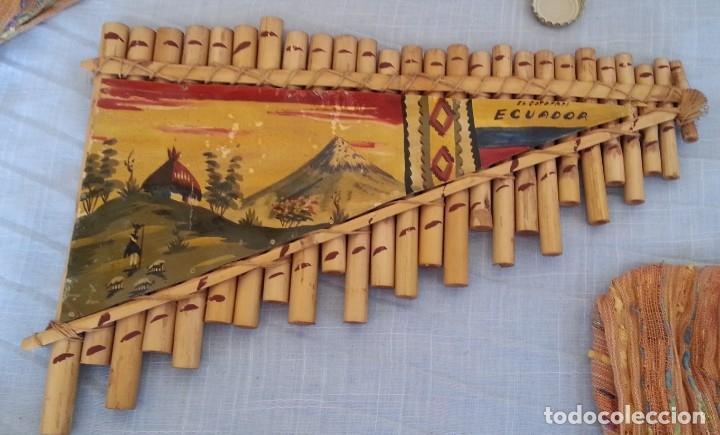 FLAUTA DE PAN. SILBATO DE ECUADOR. TIPO ARMÓNICA (Música - Instrumentos Musicales - Viento Madera)