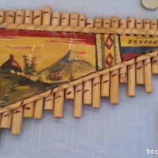 Instrumentos musicales: FLAUTA DE PAN. SILBATO DE ECUADOR. TIPO ARMÓNICA. Lote 178019680