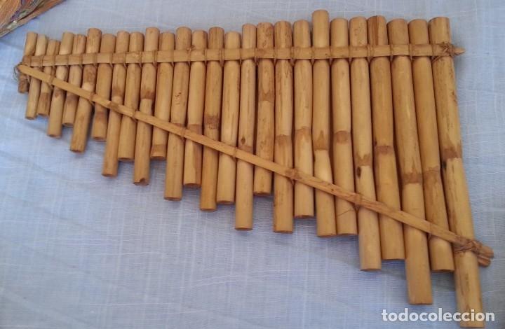 Instrumentos musicales: FLAUTA DE PAN. Silbato de Ecuador. Tipo armónica - Foto 2 - 210549291