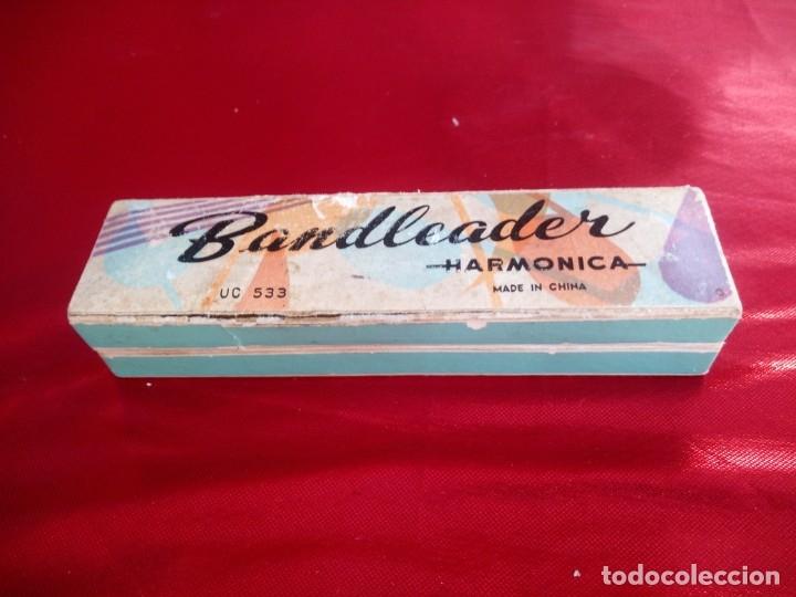 Instrumentos musicales: Antigua armonica bandleader made in china.Años 70,en caja original - Foto 2 - 178232170