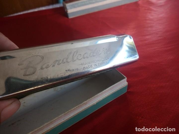 Instrumentos musicales: Antigua armonica bandleader made in china.Años 70,en caja original - Foto 3 - 178232170