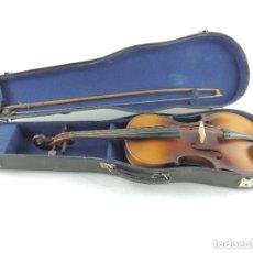 Instrumentos musicales: ANTIGUO INSTRUMENTO MUSICAL VIOLÍN CON ARCO Y ESTUCHE ORIGINAL VINTAGE. Lote 178269728