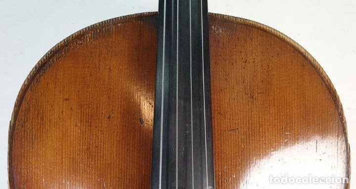 Instrumentos musicales: VIOLONCHELO. FIRMADO EN EL PUENTE. FM. FLETA. MEDIDA 3/4. CIRCA 1920. - Foto 2 - 178580287