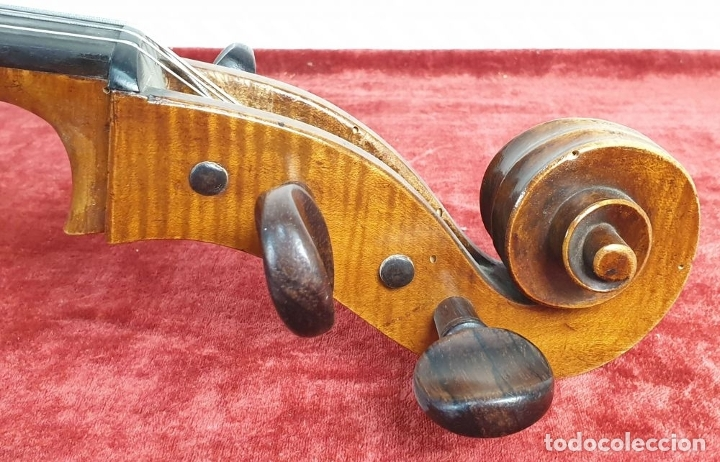 Instrumentos musicales: VIOLONCHELO. FIRMADO EN EL PUENTE. FM. FLETA. MEDIDA 3/4. CIRCA 1920. - Foto 5 - 178580287