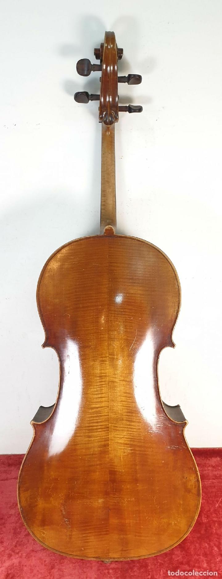 Instrumentos musicales: VIOLONCHELO. FIRMADO EN EL PUENTE. FM. FLETA. MEDIDA 3/4. CIRCA 1920. - Foto 6 - 178580287