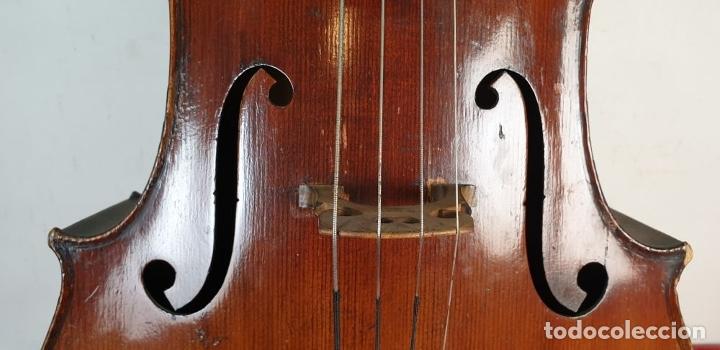 Instrumentos musicales: VIOLONCHELO. FIRMADO EN EL PUENTE. FM. FLETA. MEDIDA 3/4. CIRCA 1920. - Foto 9 - 178580287