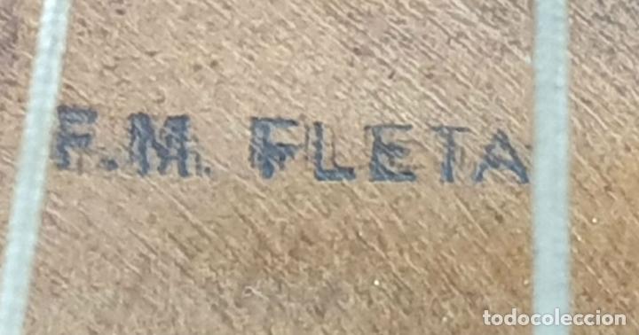 Instrumentos musicales: VIOLONCHELO. FIRMADO EN EL PUENTE. FM. FLETA. MEDIDA 3/4. CIRCA 1920. - Foto 21 - 178580287