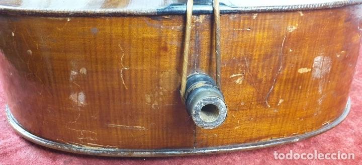 Instrumentos musicales: VIOLONCHELO. FIRMADO EN EL PUENTE. FM. FLETA. MEDIDA 3/4. CIRCA 1920. - Foto 23 - 178580287
