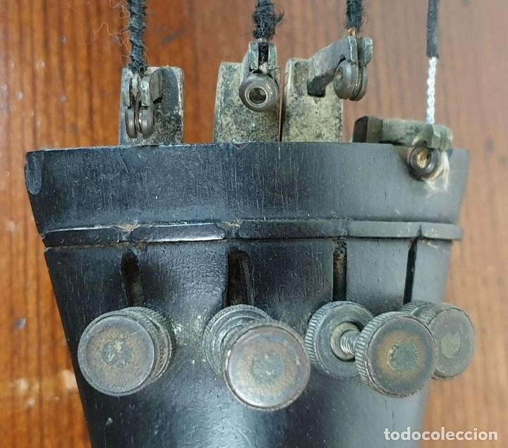 Instrumentos musicales: VIOLONCHELO. FIRMADO EN EL PUENTE. FM. FLETA. MEDIDA 3/4. CIRCA 1920. - Foto 27 - 178580287