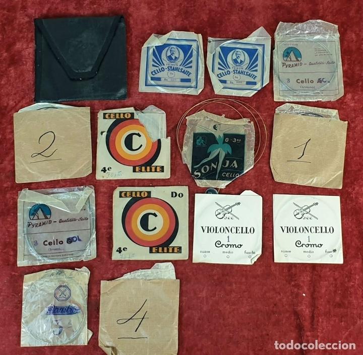 Instrumentos musicales: VIOLONCHELO. FIRMADO EN EL PUENTE. FM. FLETA. MEDIDA 3/4. CIRCA 1920. - Foto 30 - 178580287