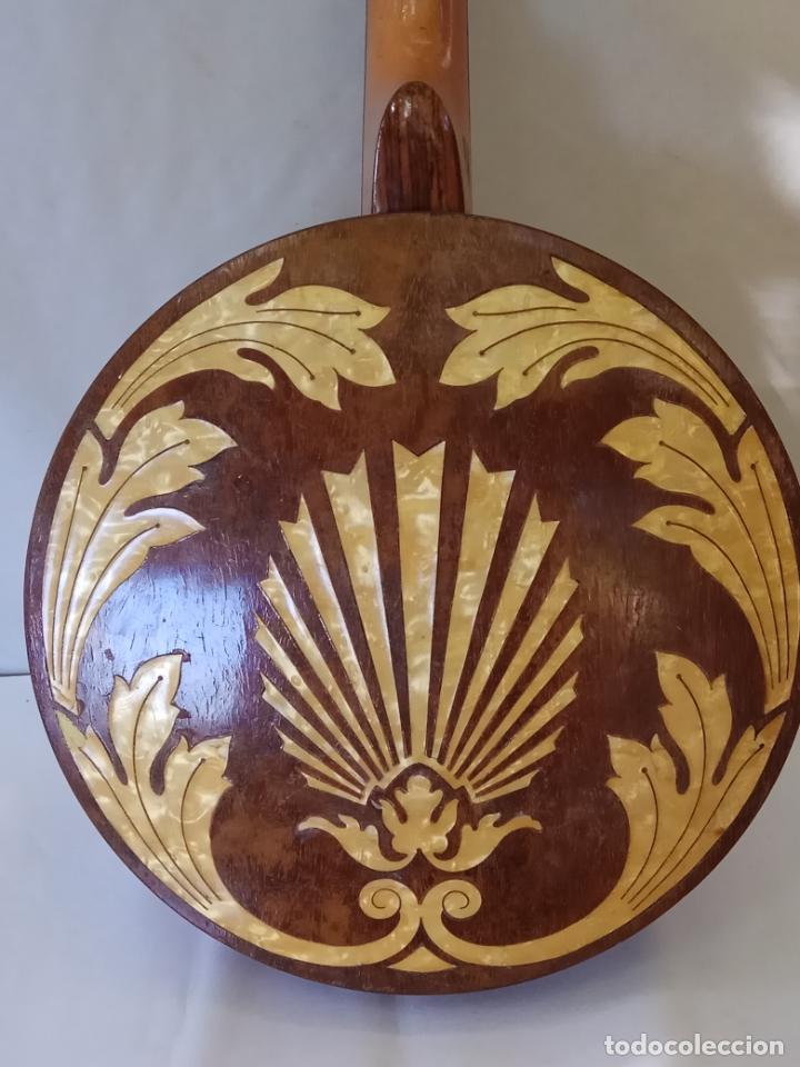 Instrumentos musicales: ANTIGUO BANJO-MANDOLINE VINCENT JACOBACCI FRANCIA 8 CUERDAS - Foto 2 - 178598850