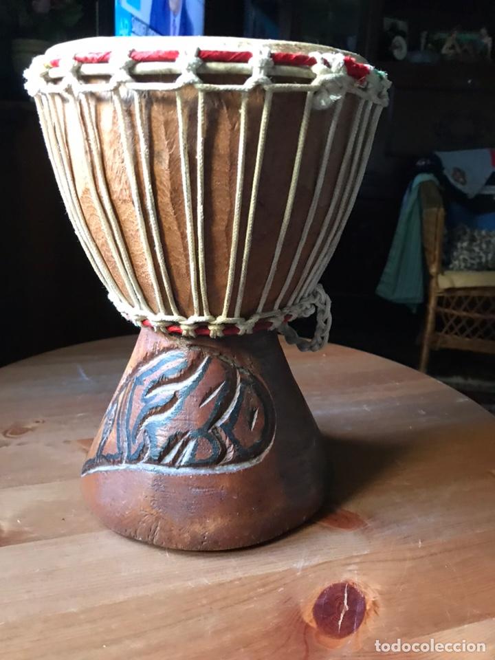Instrumentos musicales: Djembe de madera Africano antiguo - Foto 3 - 178821501