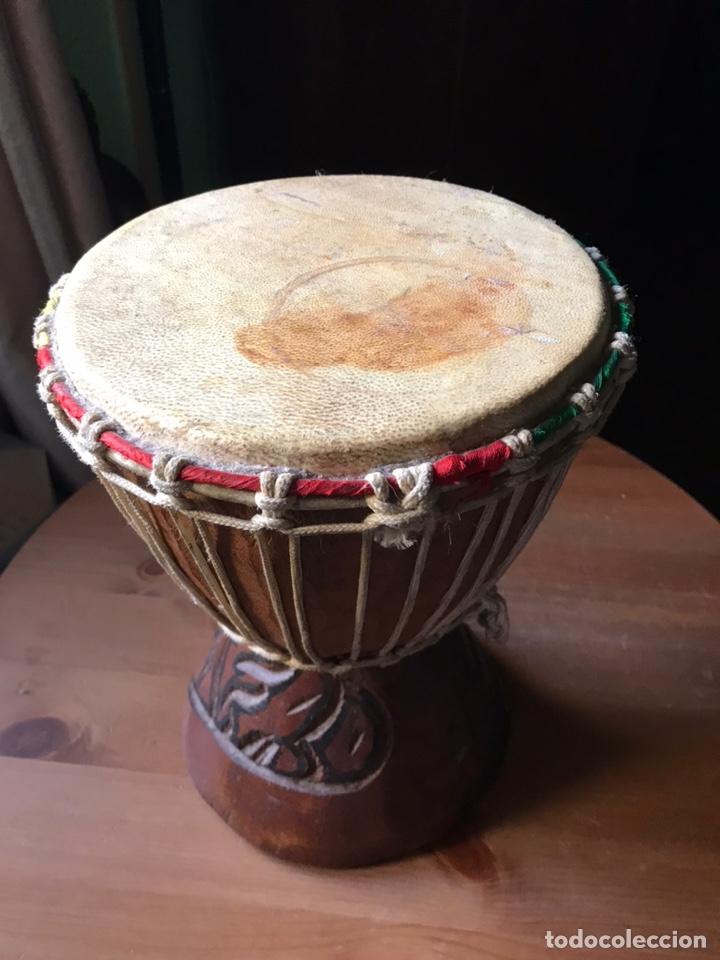 Instrumentos musicales: Djembe de madera Africano antiguo - Foto 4 - 178821501
