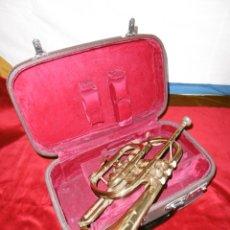 Instrumentos musicales: ANTIGUA TROMPETA CON SU MALETÍN.. Lote 178893731