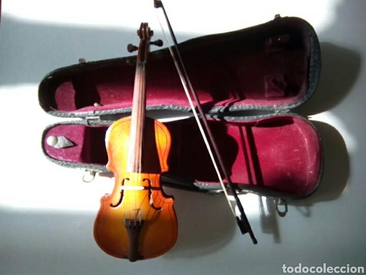 Instrumentos musicales: Bonito violín en miniatura.Decorativo . - Foto 2 - 179199693