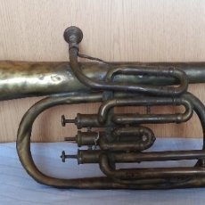 Instrumentos musicales: TROMPETA ANTIGUA DE LOS AÑOS 20. PARA DECORACIÓN O ATREZZO.. Lote 179256055