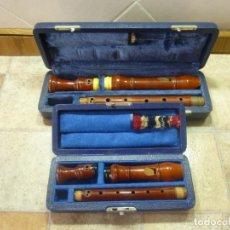 Instrumentos musicales: FLAUTAS ALTO Y SOPRANO BARROCAS HEINRICH. Lote 179526332