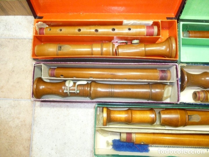 Instrumentos musicales: lote 5 flautas alto - Foto 2 - 179527187