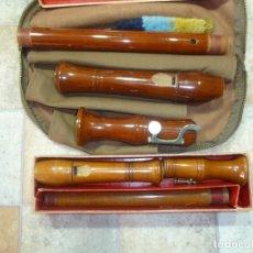 Instrumentos musicales: FLAUTAS TENOR Y ALTO HEINRICH. Lote 179528057