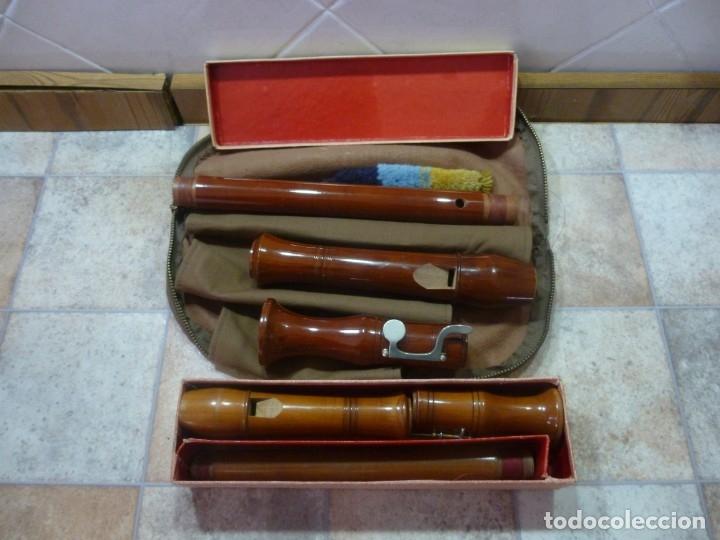 Instrumentos musicales: flautas tenor y alto Heinrich - Foto 2 - 179528057