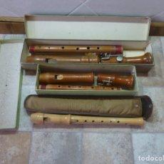 Instrumentos musicales: 3 FLAUTAS ANTIGUAS HEINRICH. Lote 179528363