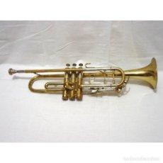 Instrumentos musicales: ANTIGUA TROMPETA CON BAÑO DORADO AMATI KRASLICE - CHECOSLOVAQUIA - CON FUNDA Y BOQUILLA. Lote 179538158