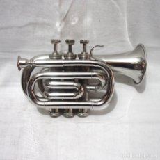 Instrumentos musicales: PRIMERA MITAD 1900. ANTIGUA TROMPETA-CORNETA DE PISTONES. ESTUCHE O MALETIN BESSONS & CO. . Lote 179956130