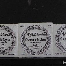 Instrumentos musicales: 10 CUERDAS PARA GUITARRA D'ADDARIO CLASSIC NYLON NUEVAS SIN USAR EN SU ENVOLTORIO. Lote 180033952