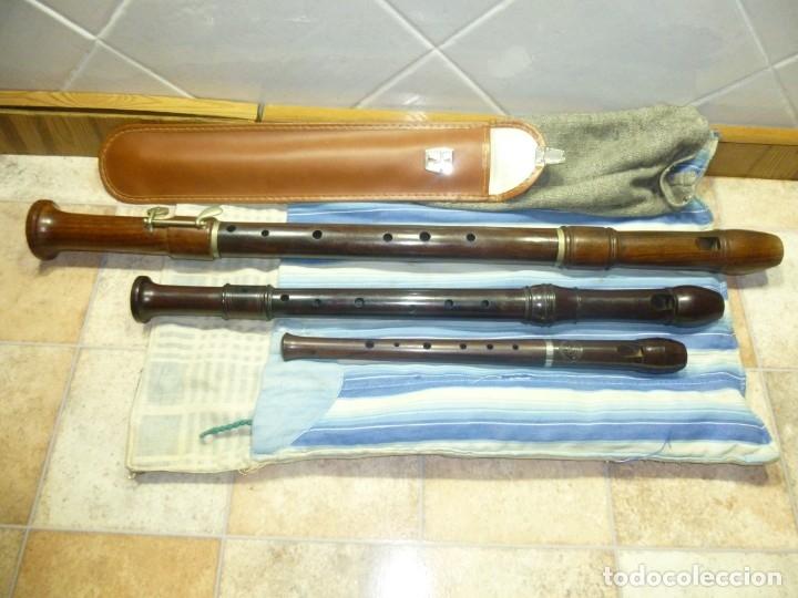 Instrumentos musicales: 1-lote 3 flautas de palisandro tenor,alto y soprano - Foto 2 - 180408085