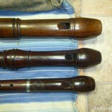 Instrumentos musicales: 1-LOTE 3 FLAUTAS DE PALISANDRO TENOR,ALTO Y SOPRANO. Lote 180408085