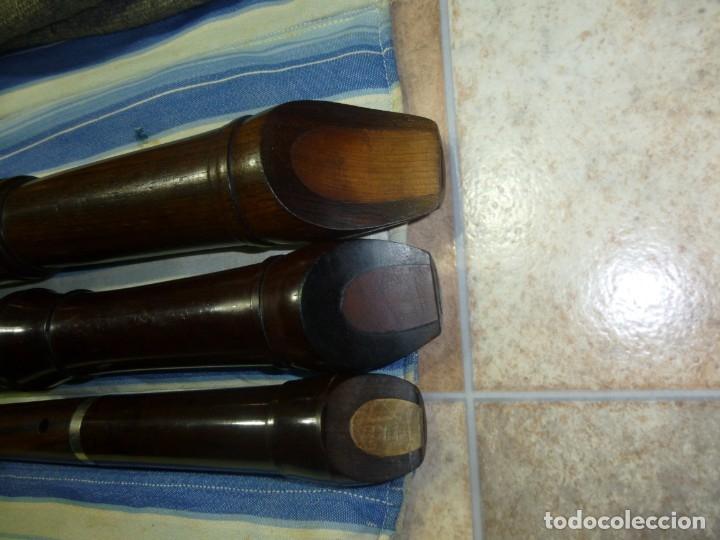 Instrumentos musicales: 1-lote 3 flautas de palisandro tenor,alto y soprano - Foto 3 - 180408085