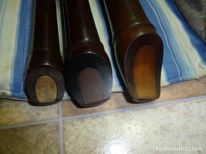 Instrumentos musicales: 1-lote 3 flautas de palisandro tenor,alto y soprano - Foto 6 - 180408085