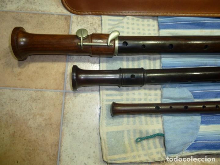 Instrumentos musicales: 1-lote 3 flautas de palisandro tenor,alto y soprano - Foto 7 - 180408085