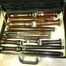Instrumentos musicales: LOTE DE 6 FLAUTAS DE PALISANDRO. Lote 180409170