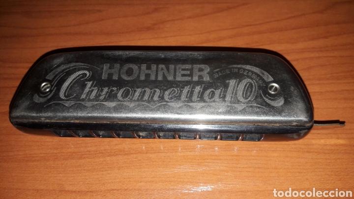 Instrumentos musicales: BONITA ARMÓNICA HONNER CHROMETTA 10 - Foto 2 - 180927997