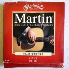 Instrumentos musicales: CUERDAS MARTIN PARA GUITARRA, JUEGO COMPLETO. Lote 181347993
