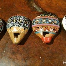 Instrumentos musicales: 4 OCARINAS CERÁMICA VIDRIADA 2 -4 - 6 AGUJEROS, FLAUTA MÚSICA PERU. Lote 181514831