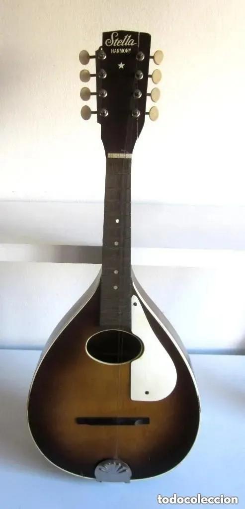 Instrumentos musicales: Antigua Mandolina Stella Harmony modelo H331 USA Chicago número serie 5731H331 años 50 - 60 - Foto 2 - 182162585