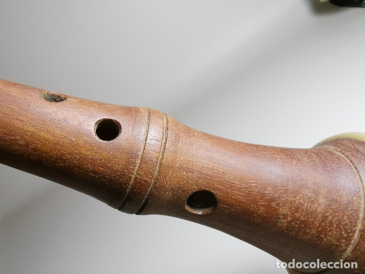 Instrumentos musicales: ANTIGUA DULZAINA -CHIRIMIA-GRALLA-GRALLON-XIRIMIA-CHALEMIE madera y asta cuerno de bovido-artesanal - Foto 17 - 182201642