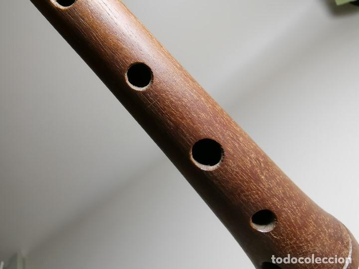 Instrumentos musicales: ANTIGUA DULZAINA -CHIRIMIA-GRALLA-GRALLON-XIRIMIA-CHALEMIE madera y asta cuerno de bovido-artesanal - Foto 19 - 182201642