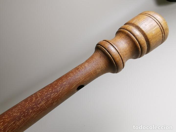 Instrumentos musicales: ANTIGUA DULZAINA -CHIRIMIA-GRALLA-GRALLON-XIRIMIA-CHALEMIE madera y asta cuerno de bovido-artesanal - Foto 21 - 182201642