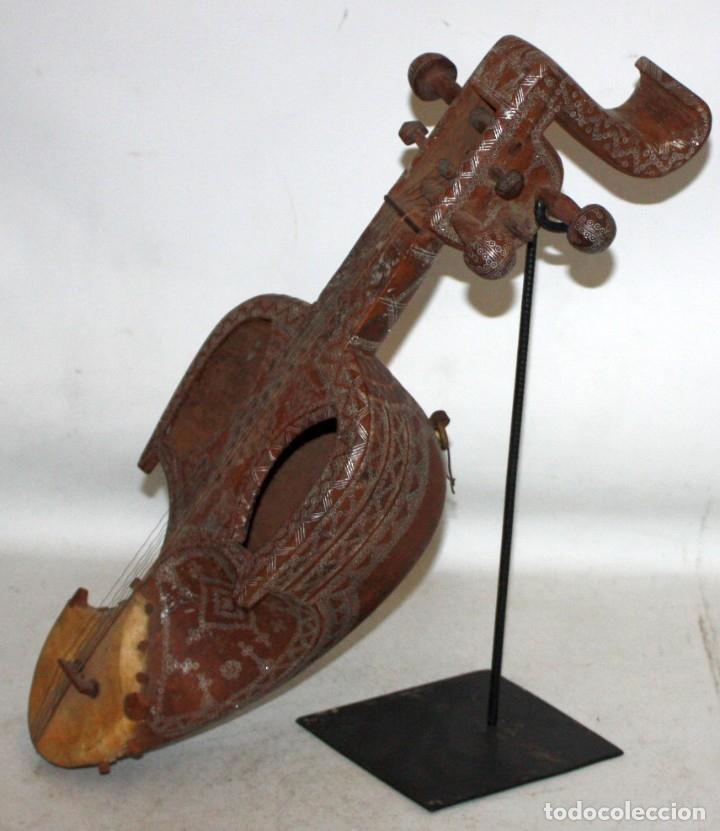 Instrumentos musicales: LAÚD DE AFGANISTAN - INCRUSTACIONES - MADERA - PERGAMINO - ARTESANO. - Foto 2 - 183042073