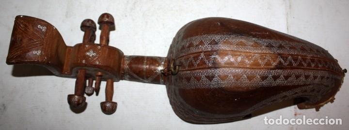 Instrumentos musicales: LAÚD DE AFGANISTAN - INCRUSTACIONES - MADERA - PERGAMINO - ARTESANO. - Foto 4 - 183042073