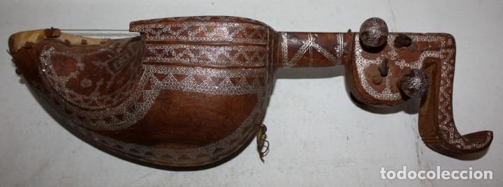 Instrumentos musicales: LAÚD DE AFGANISTAN - INCRUSTACIONES - MADERA - PERGAMINO - ARTESANO. - Foto 6 - 183042073