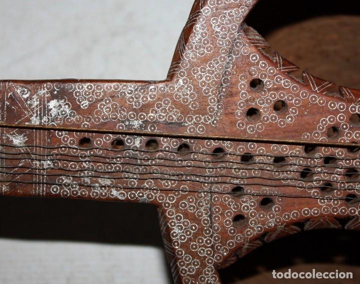 Instrumentos musicales: LAÚD DE AFGANISTAN - INCRUSTACIONES - MADERA - PERGAMINO - ARTESANO. - Foto 8 - 183042073