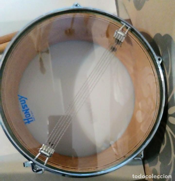 Instrumentos musicales: Lote tambor con baquetas 18 platillos tibetanos y triangulo honsuy made spain - Foto 3 - 183401350