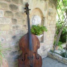 Instrumentos musicales: ANTIGUO CONTRABAJO S.XIX GRAN TAMAÑO,BUENA CONSERVACION.. Lote 183590992
