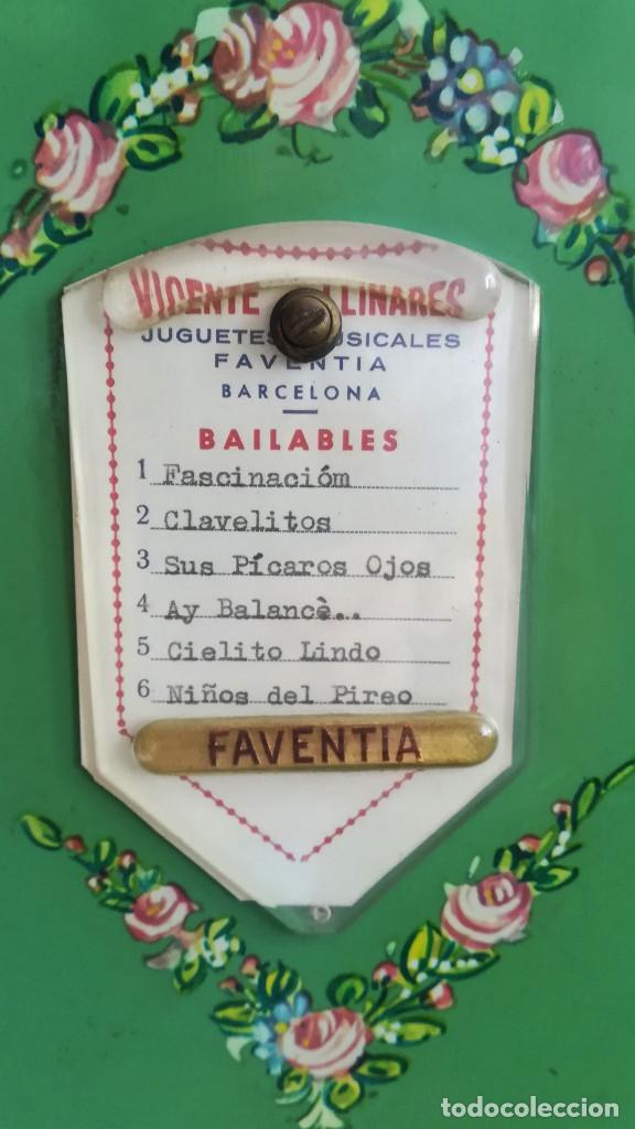 Instrumentos musicales: ORGANILLO DE MANIVELA VERDE MARCA FAVENTIA DE VICENTE LINARES - Foto 6 - 183801320